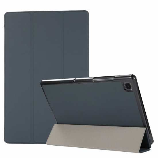 "For Samsung Galaxy Tab A7 10.4"" T500 T505 Stand Flip Sleep/Wake-Up Leather Case - Black"