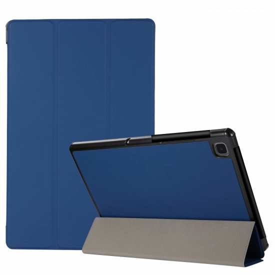 "For Samsung Galaxy Tab A7 10.4"" T500 T505 Stand Flip Sleep/Wake-Up Leather Case - Dark Blue"