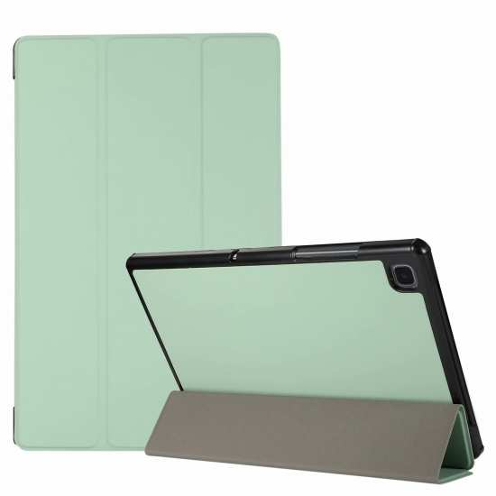 "For Samsung Galaxy Tab A7 10.4"" T500 T505 Stand Flip Sleep/Wake-Up Leather Case - Mint Green"