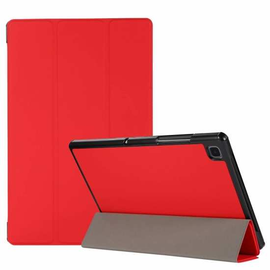 "For Samsung Galaxy Tab A7 10.4"" T500 T505 Stand Flip Sleep/Wake-Up Leather Case - Red"