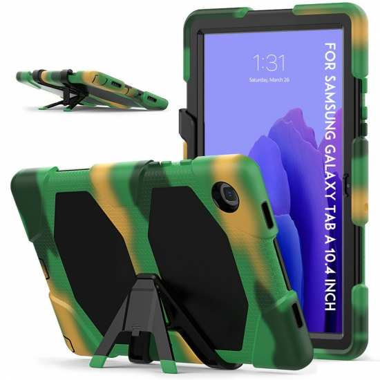 For Samsung Tab A7 10.4 Case T500 Tablet Cover W Screen Protector - Camouflage