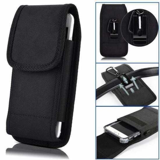 For Blackview BV9500 Plus Case Belt Pouch Holster with Clip Black