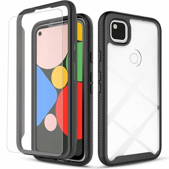 For Google Pixel 4A 5 Case Built-in Screen Protector
