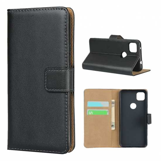 For Google Pixel 4A 4G 5 Wallet Case Leather Magnetic Folio Flip Card Slots Holster