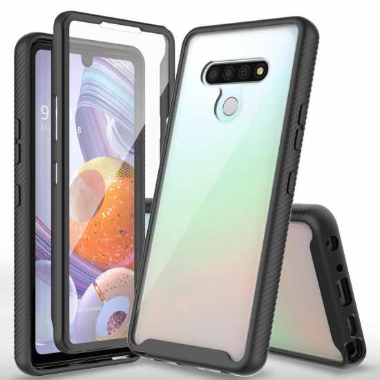 For LG Stylo 6 Case Full-Body Rugged Clear Cover With Screen Protector