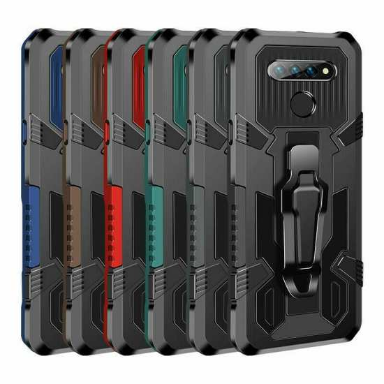 For LG Stylo 6 Case With Stand and Belt Clip Hybrid Armor Cover