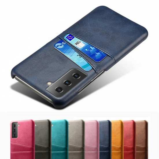 For Samsung Galaxy S21 Plus Ultra PU Leather Card Slot Back Case Cover