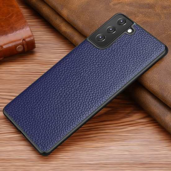 For Samsung Galaxy S21 Ultra S21+ 5G Case Genuine Leather Slim Back Cover