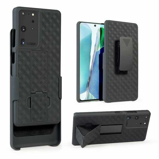 For Samsung Galaxy S21 Ultra/S21 Plus Belt Clip Holster Case Cover Stand