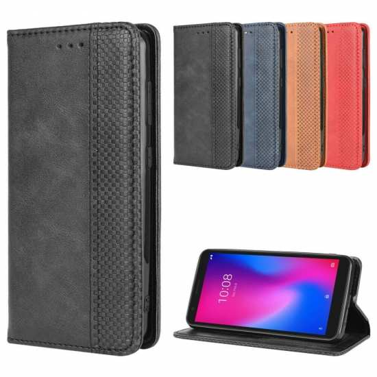 For Consumer Cellular ZTE Avid 579 Z5156CC Wallet Case Leather Card Stand Cover