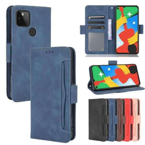 For Google Pixel 5 4A 4G 5G 3A Phone Wallet Case Card Holder Leather Cover