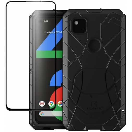 For Google Pixel 5 4A 5G 4 3a XL Metal Case Heavy Duty Rugged Armor Shockproof Cover