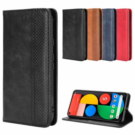 For Google Pixel 5 4A 5G 4 3a XL Wallet Case Magnetic Flip Leather Protective Cover