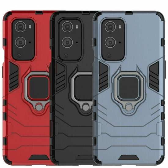 For OnePlus 9 Pro Case Shockproof Magnetic Rugged Armor Ring Holder Cover