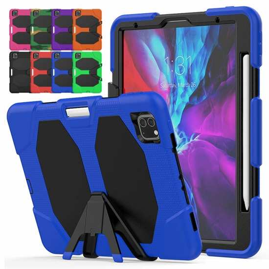 For iPad Pro 11 Case 2021 Heavy Duty Stand Shockproof Cover with Screen Protector
