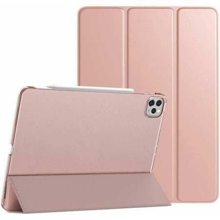 For iPad Pro 11 Case 2021 Tri-fold Leather Tablet Stand Flip Cover