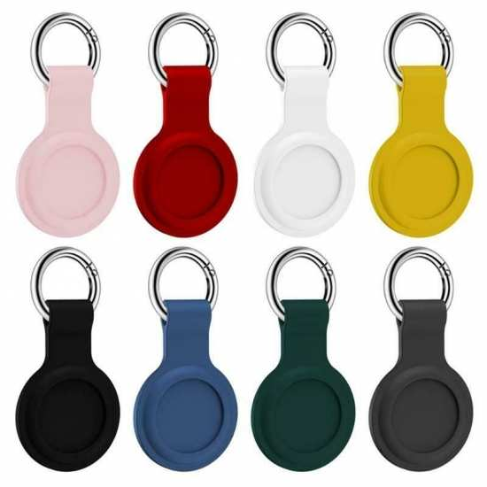 Silicone Case Cover for Apple Airtags GPS Tracker Airtag Protector Keychain