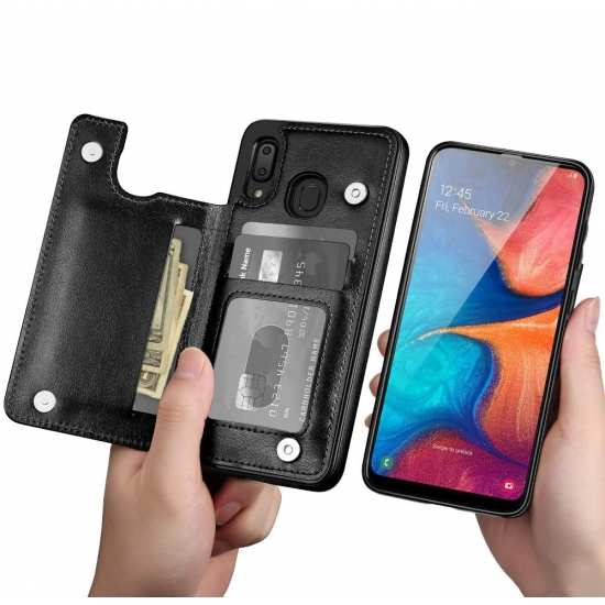 For Samsung Galaxy A20 Cardholder Cases Leather Wallet Back Cover