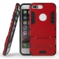Tough Protective Kickstand Hybrid Armor Slim Skin Cover Case for iPhone 7 Plus 5.5inch - Red