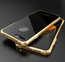 Luxury Metal Bumper Case & Gorilla Tempered Glass Back Cover For iPhone 7 Plus / 8 Plus