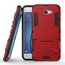 Tough Protective Hybrid Armor Slim Kickstand Cover Case for Samsung Galaxy On5 (2016) - Red