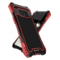 R-just Powerful Anti-drop Shockproof Dirt Proof Metal Aluminum Cover Case for Samsung Galaxy S8+ Plus - Red&Black