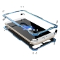 R-JUST Full Aluminum Metal Shockproof Protective Case for iPhone 8 4.7inch - Blue