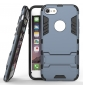Slim Armor Shockproof Kickstand Protective Case for iPhone 8 4.7inch - Navy blue