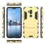 Slim Armor Stand Shockproof Hybrid Rugged Rubber Hard Back Case for LG G7 ThinQ - Gold