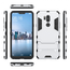 Slim Armor Stand Shockproof Hybrid Rugged Rubber Hard Back Case for LG G7 ThinQ - Silver