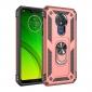 For Motorola Moto G7 Power Case Ring Holder Magnetic Stand Phone Cover - Rose Gold