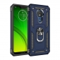 For Motorola Moto G7 Power Case Ring Holder Magnetic Stand Phone Cover - Navy Blue