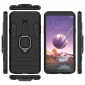 For LG Stylo 5 Case Shockproof Hybrid Armor Ring Holder Stand Cover Black