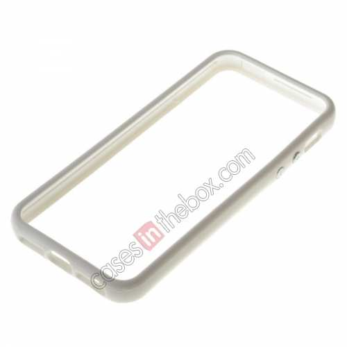 TPU Bumper Frame Case For iPhone 5 5G,wholesale Rubber and plastic Bumper for iPhone SE/5S/5 - White