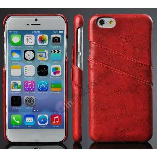 4cd06e6ad7 wholesale Oil Wax Style Insert Card Leather Back Case Cover for iPhone 6/6S  4.7