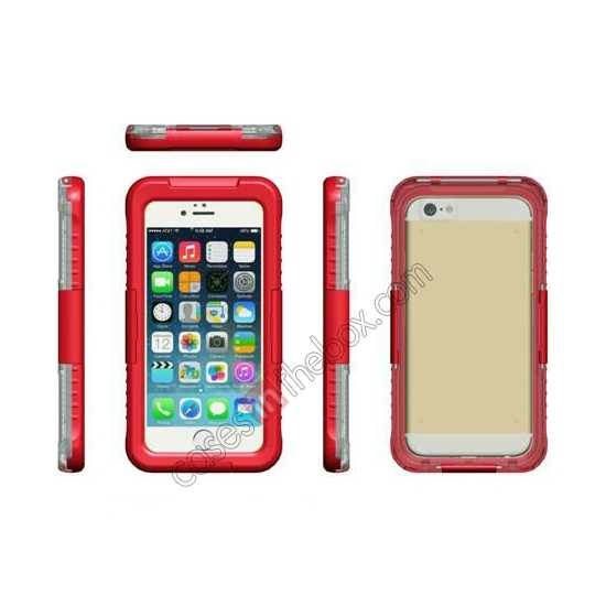discount Waterproof Shockproof Dirt Proof Durable Case Cover for iPhone 6/6S 4.7inch - Red