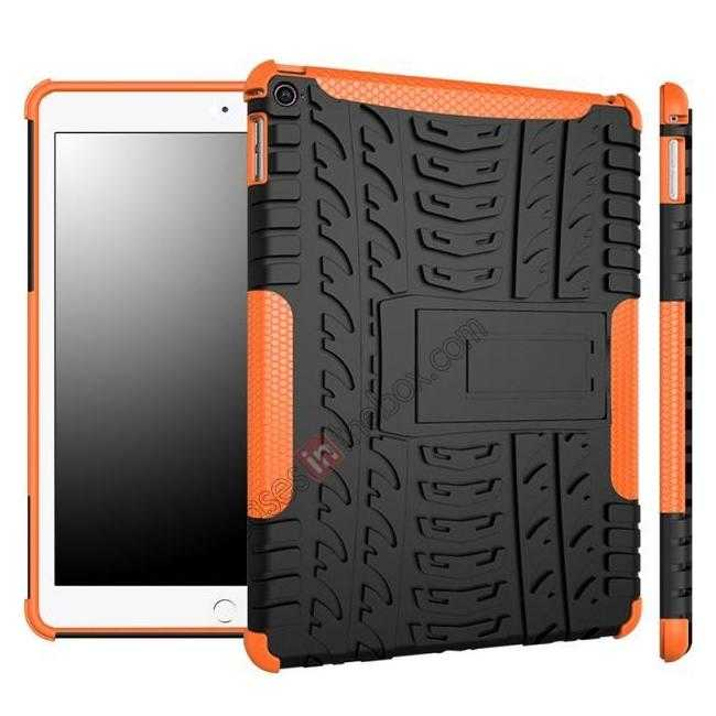 wholesale Durable ShockProof Hybrid Hard Stand TPU Case Cover For iPad Air 2 - Orange