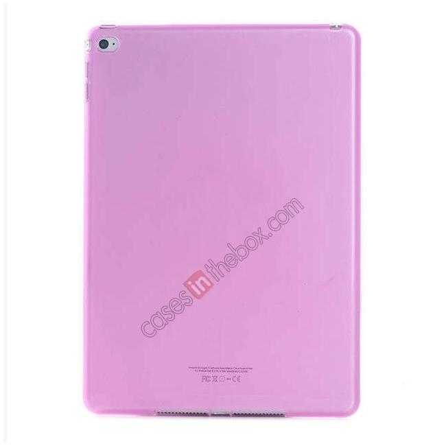 wholesale High Quality Matte Frosted Soft Tpu Gel Case Back Cover for iPad Air 2 - Pink