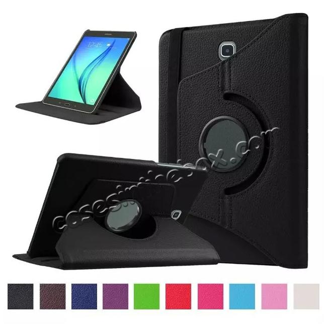 wholesale 360 Degrees Rotating Stand Leather Case For Samsung Galaxy Tab S2 8.0 T715 - Black