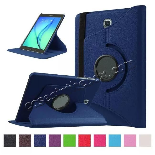 wholesale 360 Degrees Rotating Stand Leather Case For Samsung Galaxy Tab S2 8.0 T715 - Dark blue
