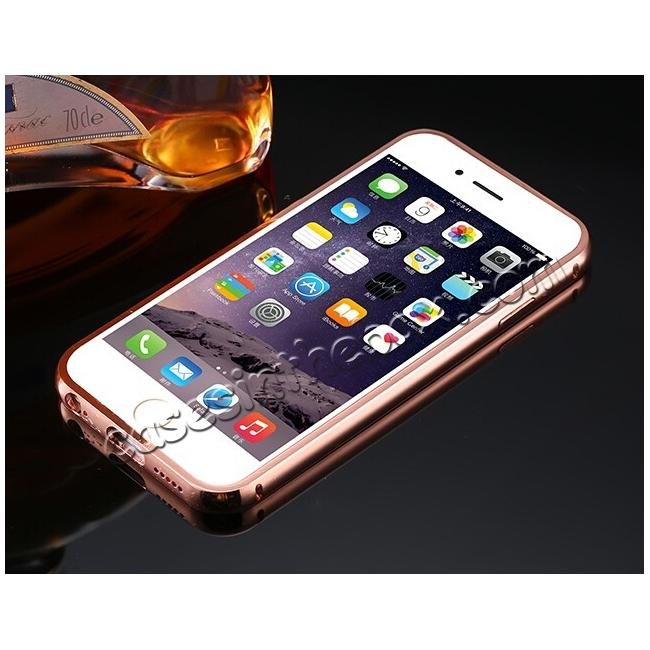 discount Luxury Aluminum Metal Bumper with Mirror Acrylic Back Cover for iPhone 5 6S/6 7 7 Plus 8 8 Plus x