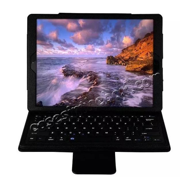 wholesale Detachable Wireless Bluetooth Keyboard Stand Leather Case For iPad Pro 12.9 Inch - Black