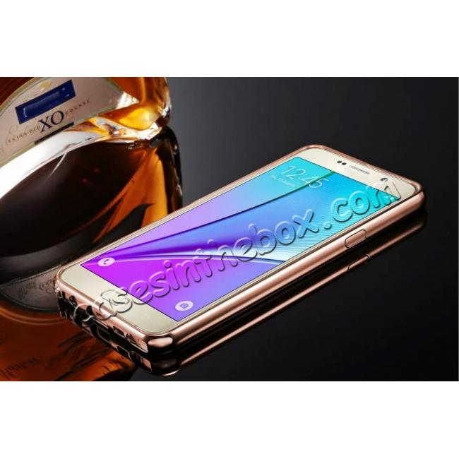 discount Luxury Metal Bumper With Mirror Acrylic Back Cover For Samsung Galaxy Note 5 / Note 8 / S6 S7 S7 Edge S8 S8 Plus