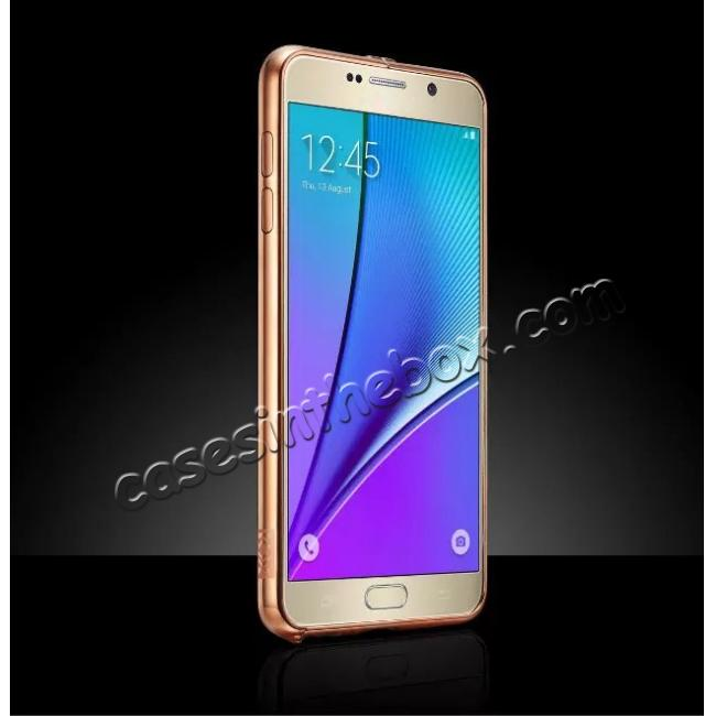 best price Luxury Metal Bumper With Mirror Acrylic Back Cover For Samsung Galaxy Note 5 / Note 8 / S6 S7 S7 Edge S8 S8 Plus