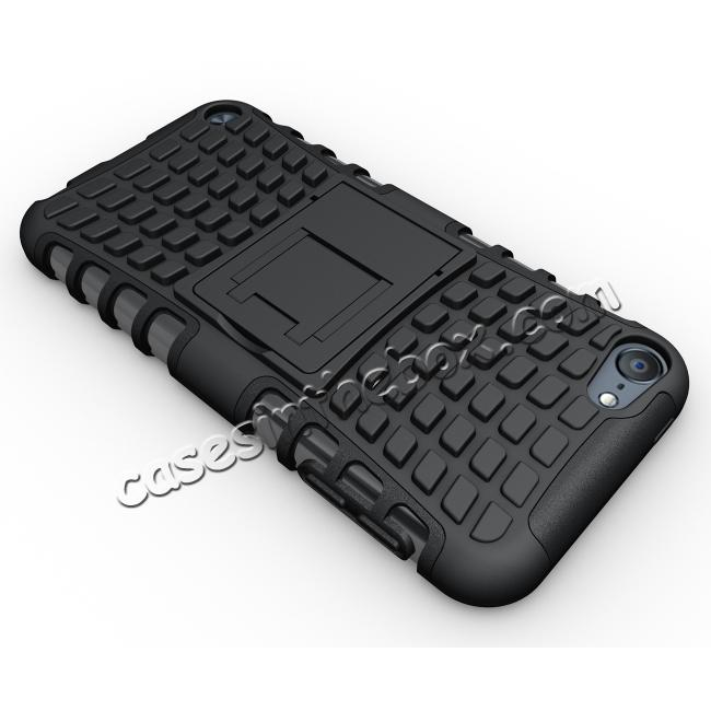 top quality Shockproof Dual Layer Hybrid Armor Kickstand Case For Apple iPod Touch 5th Gen - Black