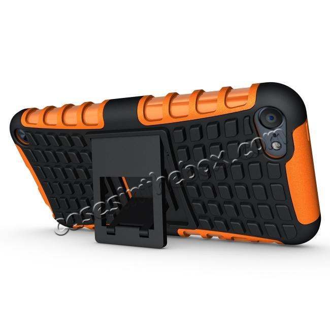 cheap Shockproof Dual Layer Hybrid Armor Kickstand Case For Apple iPod Touch 5th Gen - Orange
