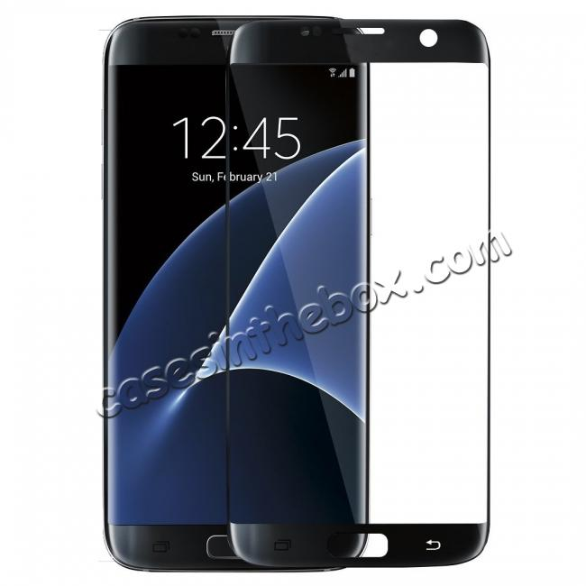 discount 3D Rounded Edge Tempered Glass Screen Protector Film For Samsung Galaxy S7 Edge