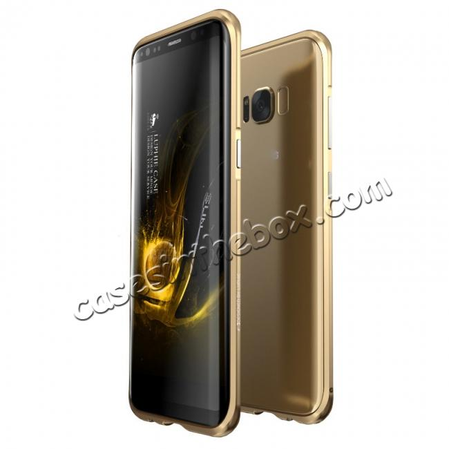 wholesale Aluminum Alloy Metal Bumper Frame Case Cover for Samsung Galaxy S8 - Gold