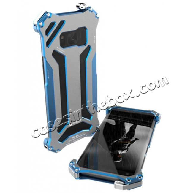 new style 68897 0b1cf R-JUST Shockproof Dropproof Aluminum Metal Case for Samsung Galaxy S8+ Plus  - Blue