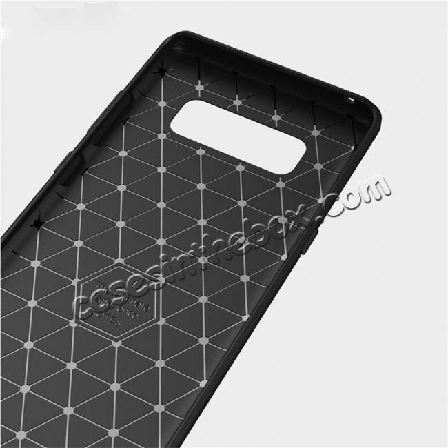 top quality Carbon Fiber Brushed Shockproof TPU Rubber Case For Samsung Galaxy Note 8 - Black